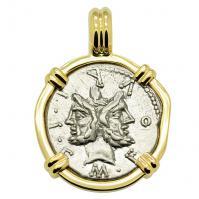 Janus and Roma Denarius Pendant