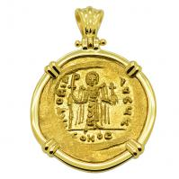 SOLD Angel and Phocas Solidus Pendant; Please Explore Our Byzantine Category For Similar Items.