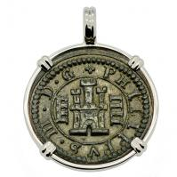 King Philip III Four Maravedis Pendant