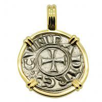 Crusader Cross Denaro Pendant