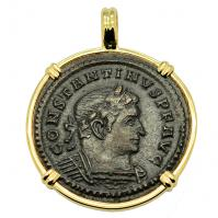 SOLD Constantine the Great and Sol Pendant. Please Explore Our Roman Pendants For Similar Items.