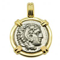SOLD Alexander the Great Drachm Pendant. Please Explore Our Greek Pendants For Similar Items.