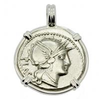 SOLD Roma and Victory Denarius Pendant. Please Explore Our Roman Category For Similar Items.