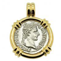 SOLD Caesar Augustus Denarius Pendant; Please Explore Our Roman Pendants For Similar Items.