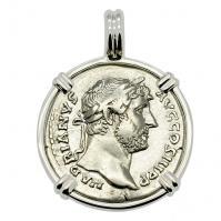 SOLD Emperor Hadrian and Roma Denarius Pendant; Please Explore Our Roman Pendants For Similar Items.