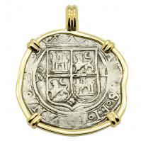 King Charles and Johanna 2 Reales Pendant