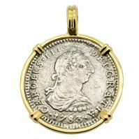 SOLD El Cazador Shipwreck 1 Real Pendant. Please Explore Our Spanish Treasure Pendants For Similar Items.
