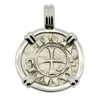 Crusader Cross Denier Pendant