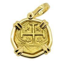 Colonial Spanish Bogota 2 escudos