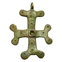 Byzantine Empire 7th-10th century, bronze cross pendant.