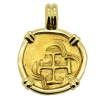 King Philip II One Escudo Pendant