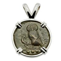 Owl and Athena Tetras Pendant