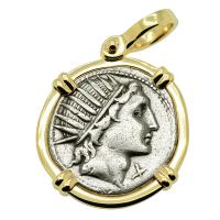 Sol and Luna Denarius Pendant