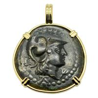 SOLD Athena and Nike Pendant. Please Explore Our Greek Pendants For Similar Items.