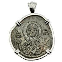 Mary and Jesus Follis Pendant