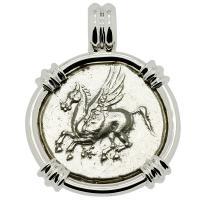 Pegasus and Athena Stater Pendant