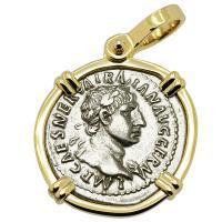 SOLD Emperor Trajan and Victoria Denarius Pendant. Please Explore Our Roman Pendants For Similar Items.