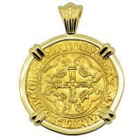 French King Louis XI Ecu Pendant