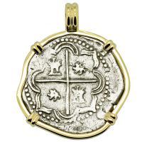 King Philip II Spanish 2 Reales Pendant