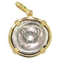 SOLD Crab Didrachm Pendant; Please Explore Our Greek Pendants For Similar Items.