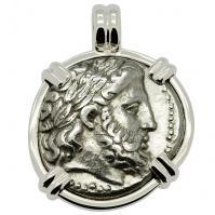 SOLD King Philip II Zeus Tetradrachm Pendant; Please Explore Our Greek Pendants For Similar Items.
