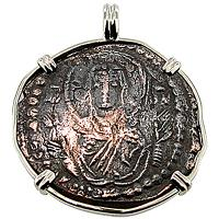 #6900 Virgin Mary & Jesus Christ Follis Pendant