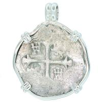 SOLD #7204 Sao Jose Shipwreck 4 Reales Pendant; Please Explore Our Spanish Shipwreck Pendants For Similar Items.