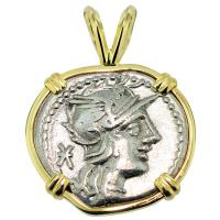 #7239 Roma and Pax Denarius Pendant