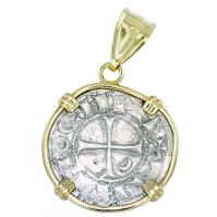 #7337 Crusader Cross Denier Pendant