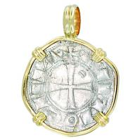 #7423 Crusader Cross Denier Pendant