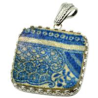 SOLD #7721 Caribbean Shipwreck Pottery Pendant; Please Explore Our Pottery Pendants For Similar Items.