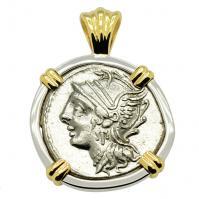 #7838 Roma and Victory Denarius Pendant