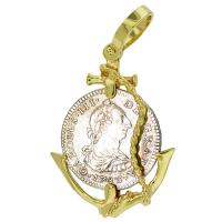 SOLD #7843 El Cazador Shipwreck 1 Real Pendant; Please Explore Our Spanish Shipwreck Pendants For Similar Items.