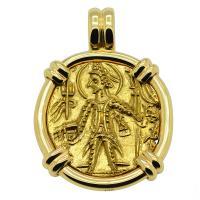 #7860 King Vasudeva & Ardoxsho Dinar Pendant