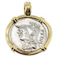 SOLD #7945 Minerva & Victory Denarius Pendant; Please Explore Our Roman Pendants For Similar Items.