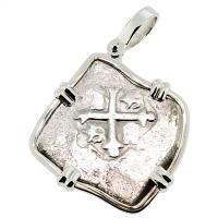 SOLD Joanna Shipwreck 4 Reales Pendant; Please Explore Our Spanish Shipwreck Pendants For Similar Items.