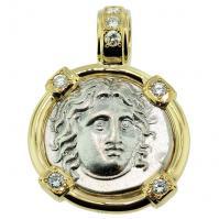 #7985 Helios Didrachm Pendant