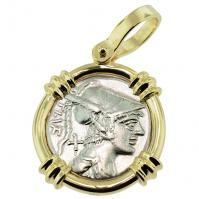 SOLD Mars Denarius Pendant; Please Explore Our Roman Pendants For Similar Items.