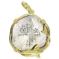 SOLD Atocha Shipwreck 8 Reales Pendant; Please Explore Our Spanish Shipwreck Pendants For Similar Items.