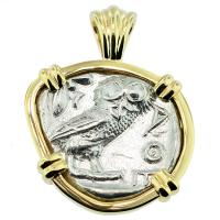 SOLD #8081 Owl and Athena Tetradrachm Pendant; Please Explore Our Greek Pendants For Similar Items.