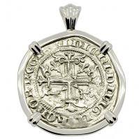 SOLD King Roberto Gigliato Pendant. Please Explore Our Medieval Pendants For Similar Items.
