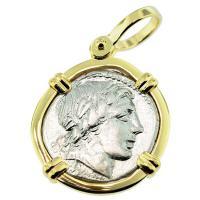#8178 Apollo & Jupiter Denarius Pendant