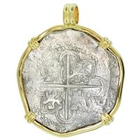 SOLD Santiago Shipwreck 8 Reales Pendant; Please Explore Our Spanish Shipwreck Pendants For Similar Items.