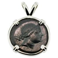 SOLD Nike & Bow Pendant; Please Explore Our Greek Pendants For Similar Items.