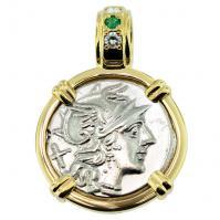#8324 Roma and Victory Denarius Pendant