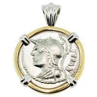 SOLD #8327 Minerva & Victory Denarius Pendant; Please Explore Our Roman Pendants For Similar Items.