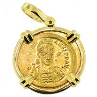 SOLD Justinian the Great Solidus Pendant; Please Explore Our Byzantine Category For Similar Items.