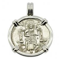 Venetian Jesus Christ Grosso Pendant
