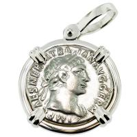 SOLD #8536 Emperor Trajan & Victory Denarius Pendant; Please Explore Our Roman Pendants For Similar Items.