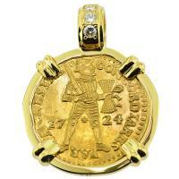 SOLD Akerendam Shipwreck Ducat Pendant; Please Explore Our Gold Coin Pendants For Similar Items.
